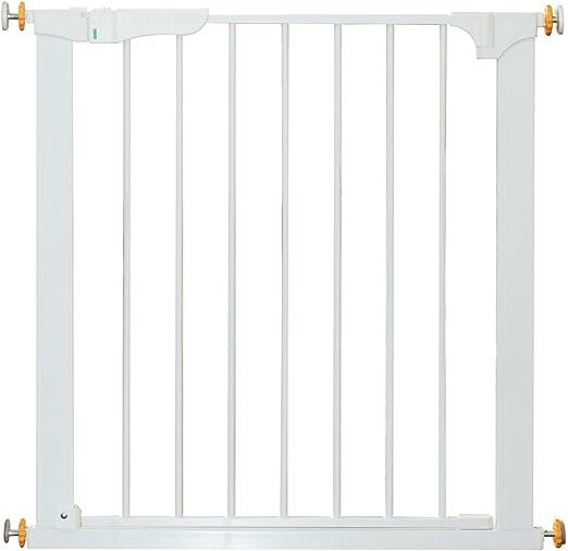 HOMCOM Puerta de Metal Blanca de Escalera o Pasillo para Mascotas Tipo Barrera de Seguridad 74-95cm: Amazon.es: Productos para mascotas