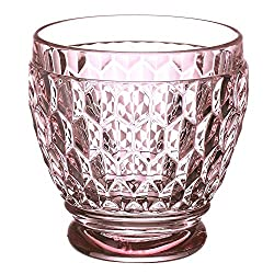 Rose Boston Blue Crystal Shot Glass, Set of 4