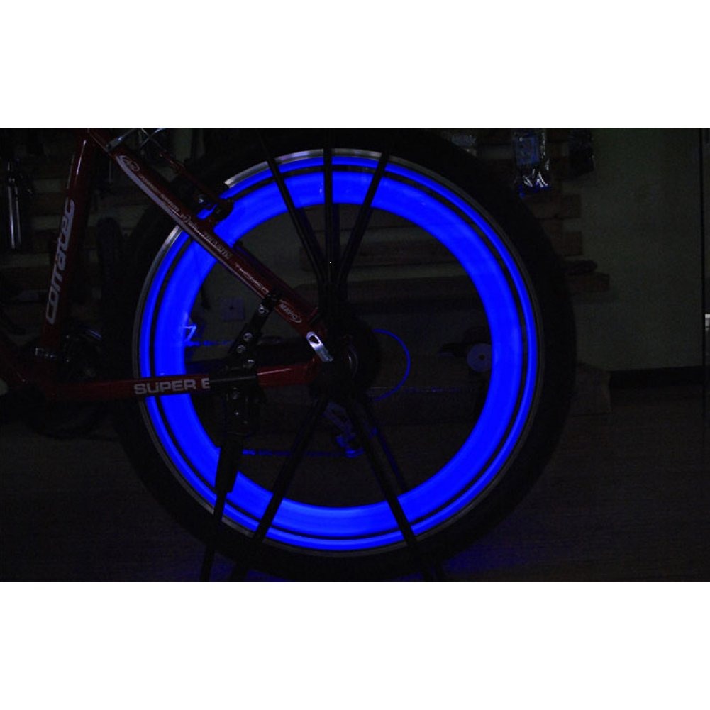 Bicycle Super Spoke Wire Tyre Colorful Light LED Lamp Cycling Bike Hot Wheels