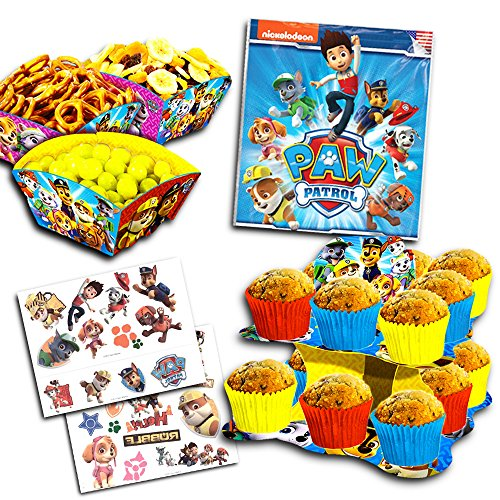 orations Set -- Cupcake Stand, Snack Bowls and Temporary Tattoos (Party Supplies) ()