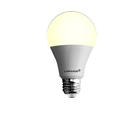 Lampaous Bombilla LED (15 W E27 100 W bombillas incandescentes Equivalente, Blanco cálido,