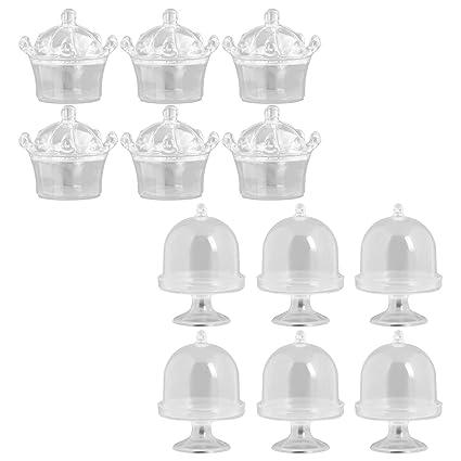 Amazon.com: Xigeapg 12 piezas 2 estilos plástico dulces ...