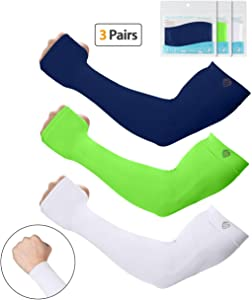SHINYMOD Arm Sleeves,Men Women Warmer Gloves Compression UV Protective UPF 50 Sports Running Golfing Cycling Working Out Basketball Football Tatoo Arm Covers