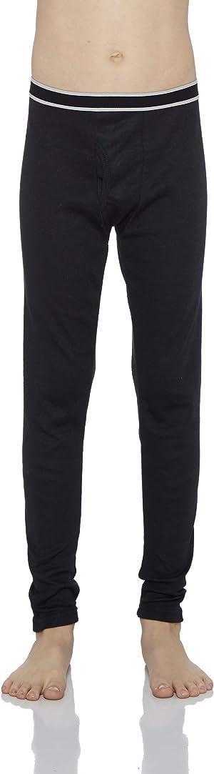 Rocky Boy's Fleece Lined Thermal Leggings Long Underwear Kids Base Layer Bottom Pants