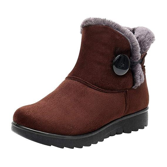 YiYLunneo Botas de Nieve Mujer Impermeable Zapatos Invierno Botines Mujeres Color SóLido Mantener CáLidos MáS Terciopelo Pnas CN 35-40: Amazon.es: Ropa y ...
