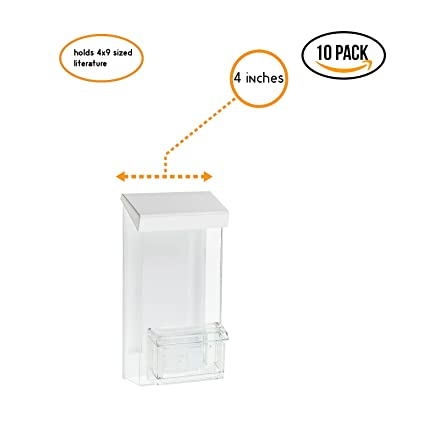 Source One Outdoor Trifold Brochure Holder With