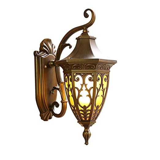 Amazon.com: MMPY Retro LED Balcony Outdoor Wall Lamp Antique Waterproof Wall Lamp Stairway Corridor Aisle Outdoor Wall Light Garden: Home & Kitchen