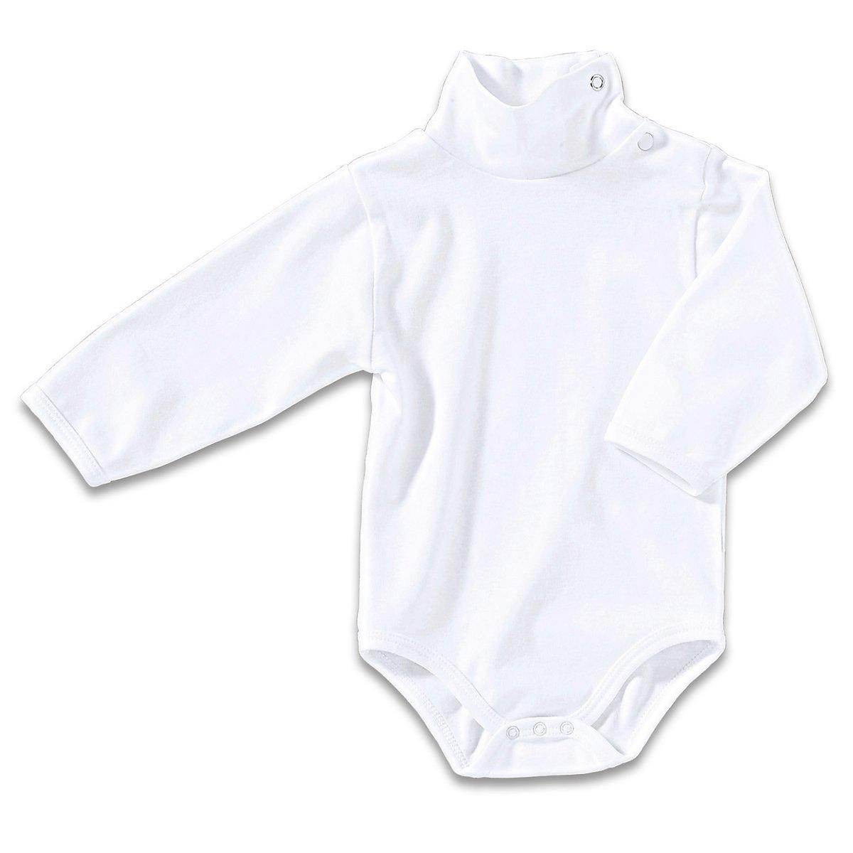 Bornino Basics Body langarm mit Rollkragen/Babybekleidung - mit Druckknöpfen, Öko-Tex zertifiziert - Erstausstattung für Jungen/Mädchen