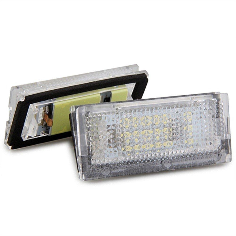 luz blanca 18/LED aportan estilo a tu coche compatibles con BMW Bombillas para luces para matr/ícula KATUR pack de 2/unidades