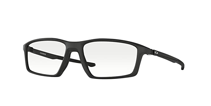 2ac18b32543 Image Unavailable. Image not available for. Color  Oakley CHAMBER OX8138-813801  Eyeglasses SATIN BLACK 55mm
