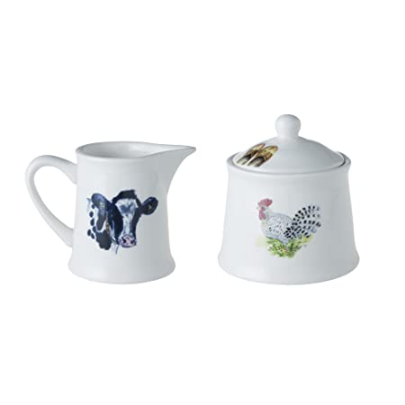 Alie Kruse Kolk.Alie Kruse Kolk Country Life Sugar And Milk Set Of 2 Pcs Amazon Co