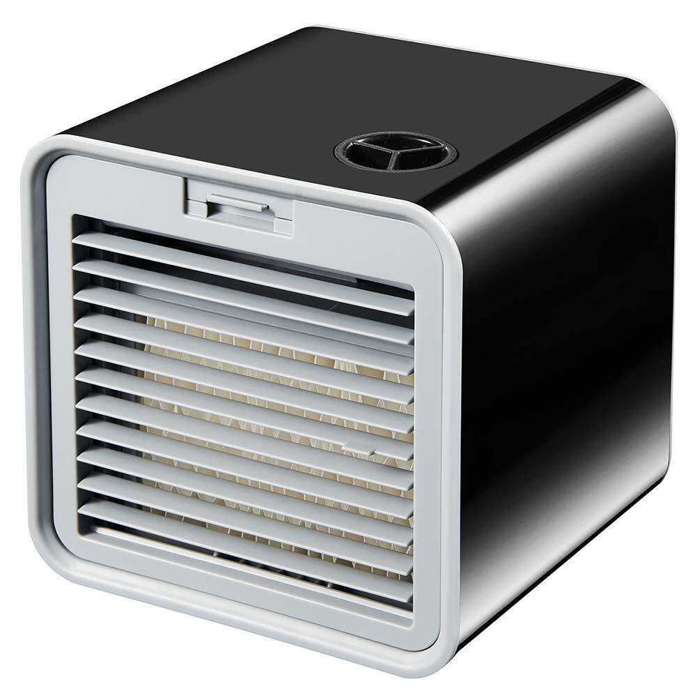 3-en-1 Mini Enfriador Humidificador Purificador de Aire Port/átil USB Aire Acondicionado para Casa//Oficina//Camper LHZHG Aire Acondicionado Port/átil Enfriador