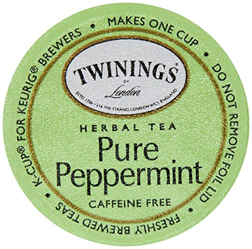 (Twinings of London K-Cup Portion Pack for Keurig K-Cup Brewers Pure Peppermint Tea, 72 Count (Pack of 6))