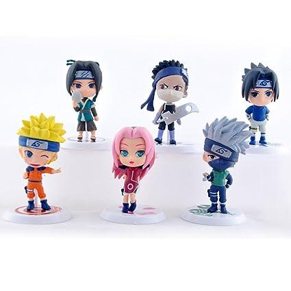 6pcsset anime cartoon naruto q version sakura sasuke kakashi pvc model toys figure christmas - Naruto Christmas