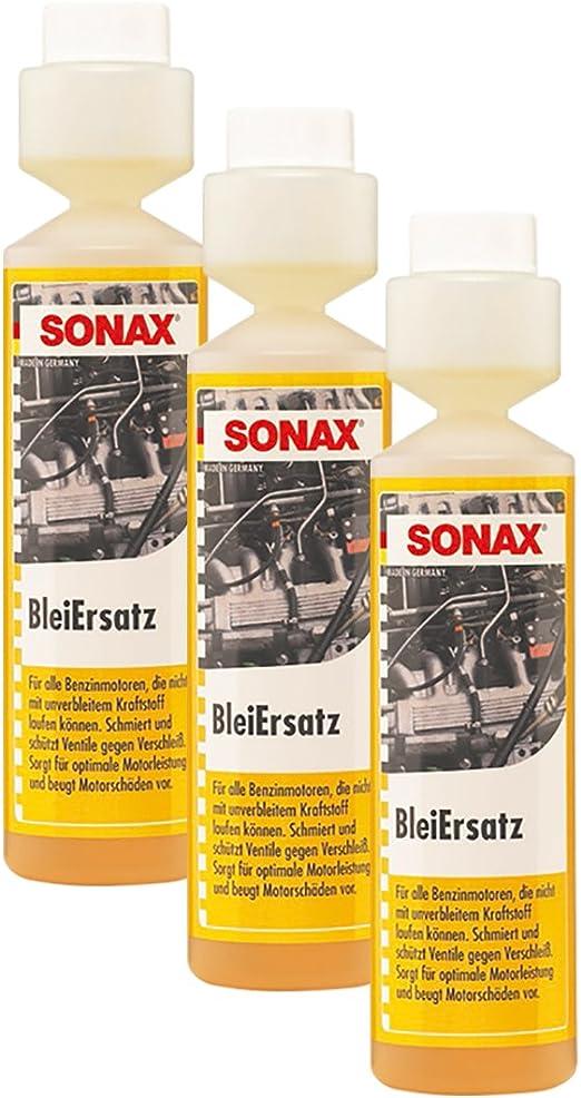 Sonax 3x 05121410 Bleiersatz Bleiersatzstoff Kraftstoff Benzin Additiv 250ml Auto