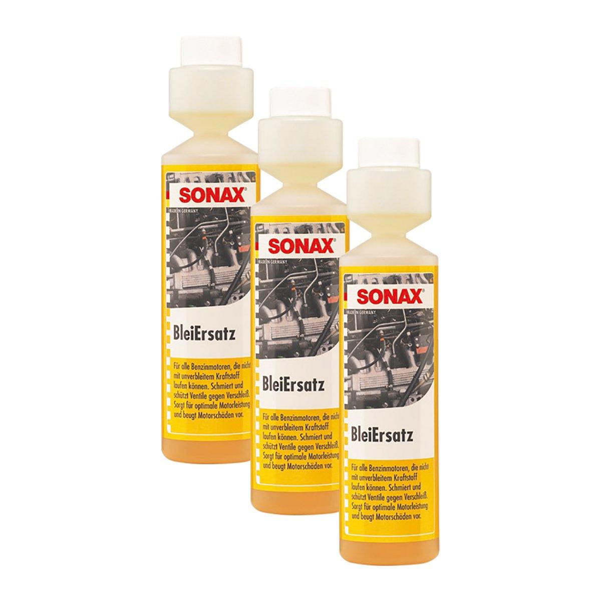 SONAX 3X 05121410 BleiErsatz Bleiersatzstoff Kraftstoff Benzin Additiv 250ml