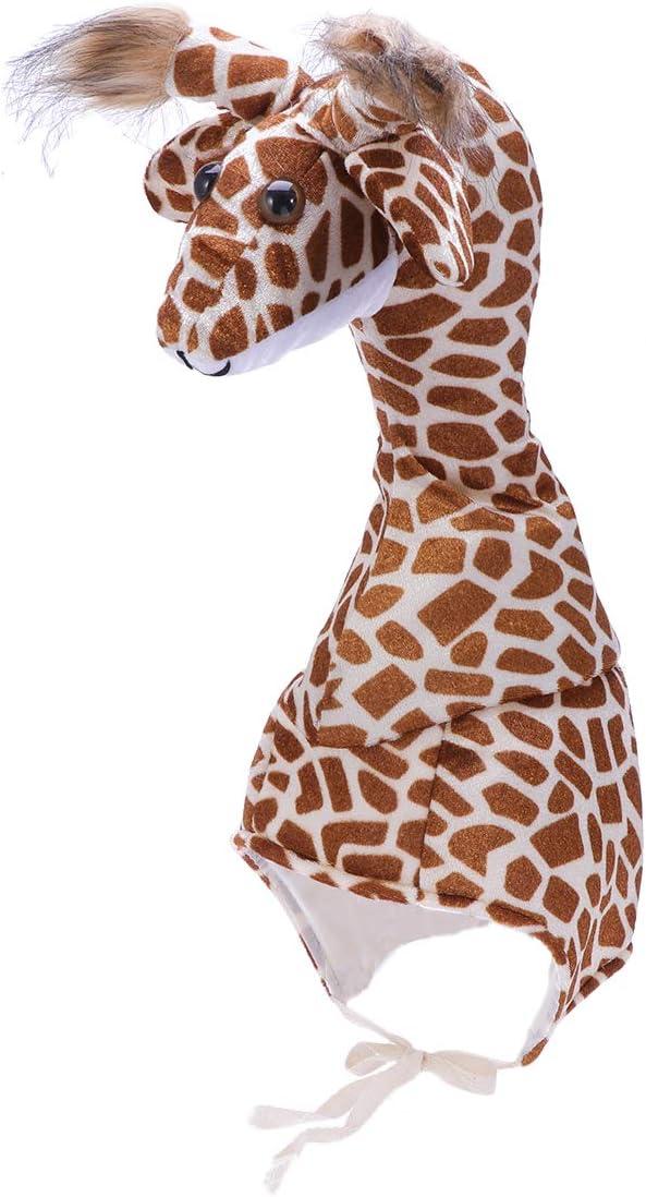 Amosfun Giraffe Hat Animal Costume Party Hat Animal Hat for Kids