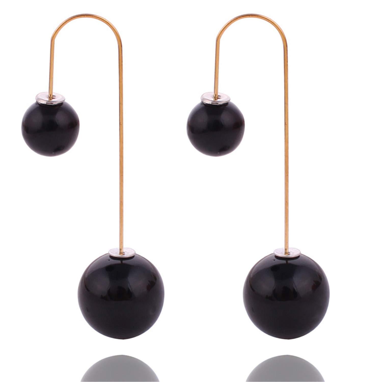 Ladies Pearl Earrings Styles Double Sided Earrings Stud Earrings for Women Xmas Gift Jewelry