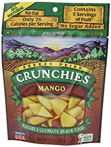 Crunchies Freeze-Dried Fruit Snack, Mango, 1.5 Ounce Pouch