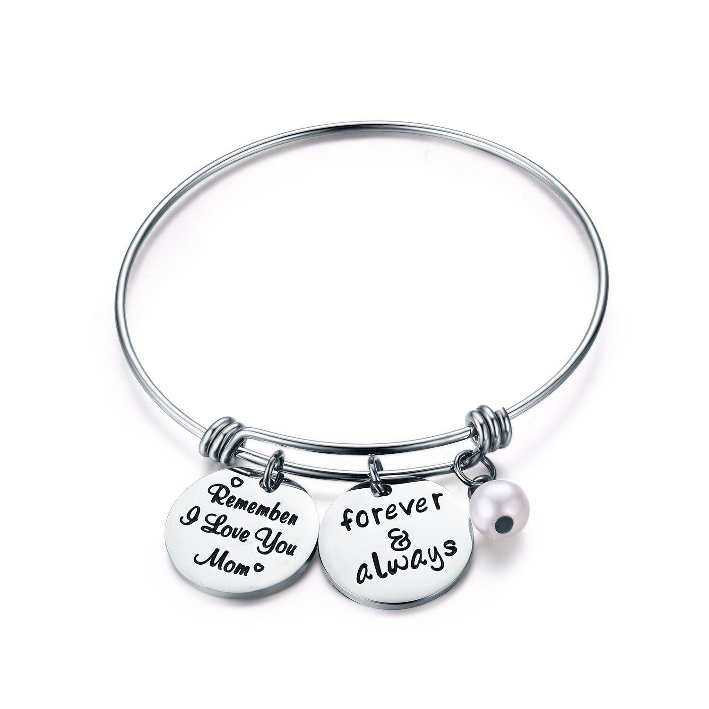 Udobuy Remember I Love You Mom Bracelet from Daughter Or Son For, Mother's birthday,Mom Bracelet