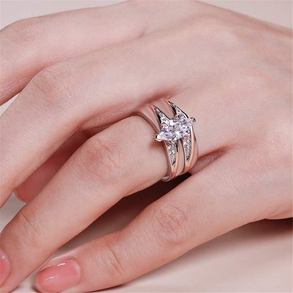 0.32 ct Side Stone Jeulia Wedding Rings Engagement Rings for Women Anniversary Promise Ring Bridal Sets 925 Sterling Silver with 1.6 ct Primary Stone