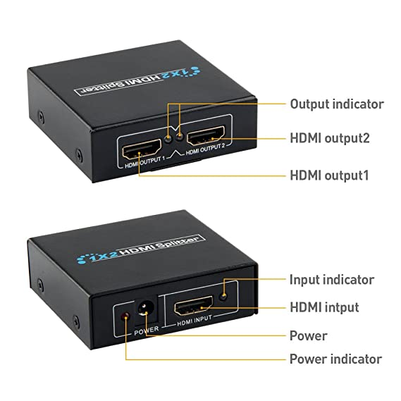 Amazon.com: COOFO 1X2 HDMI Splitter,HDMI Switch, Splitter box Version 1.4 Powered HDMI Splitter Dual Monitor HDMI Splitter for Full HD 1080P Support 3D HDMI ...