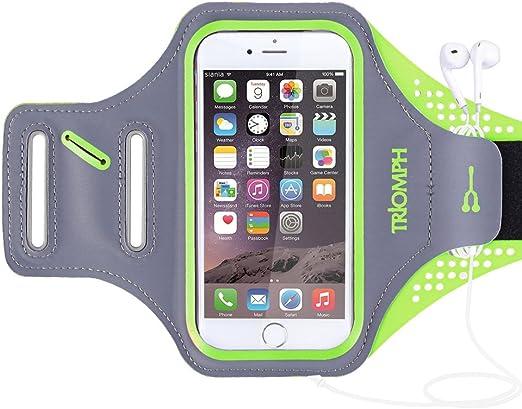 Triomph Brassard pour iPhone 7, iPhone 6S/6, iPod Samsung Galaxy S6/S6 Edge S5 avec protecteur d'écran et porte-monnaie, pour la course, les ...