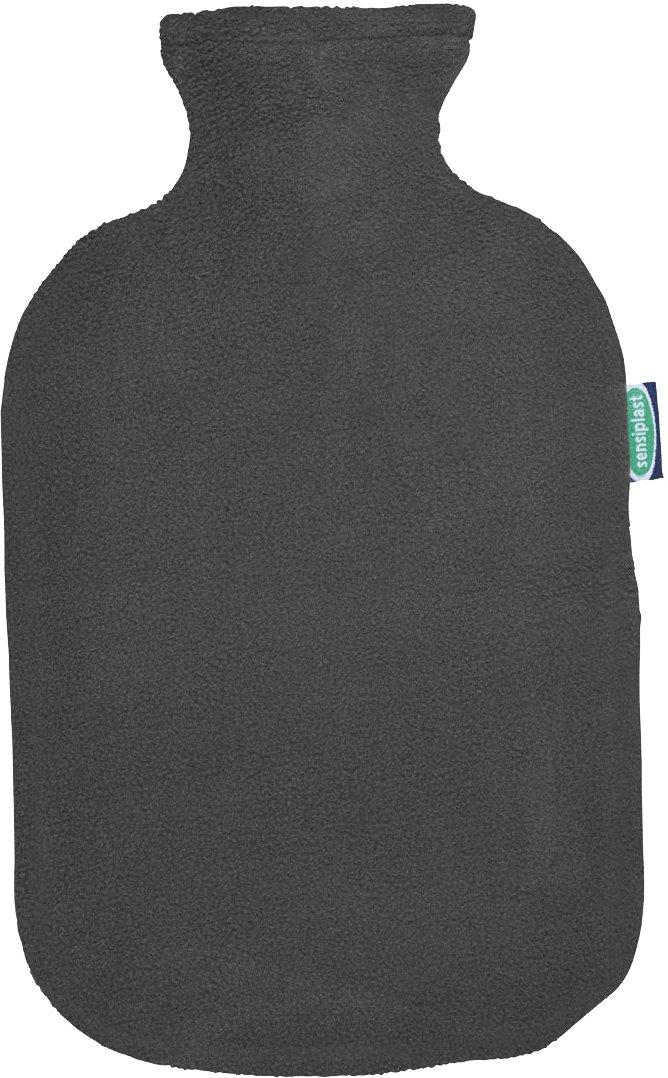 SENSIPLAST/® W/ärmflasche mit Fleecebezug 2L blau