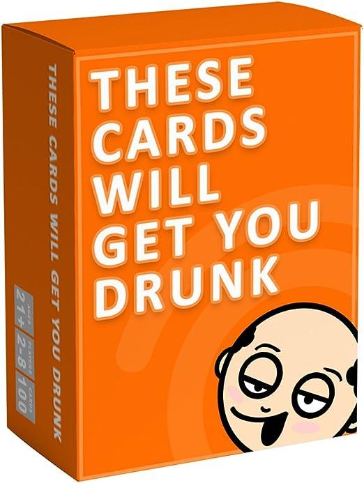 These Cards Will Get You Drunk - Divertido Juego de Beber para Adultos para Fiestas: Amazon.es: Juguetes y juegos