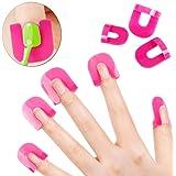 NPLE--26pcs(10 sizes) Curve Shape Spill-proof Finger Cover Sticker Nail Polish Holder