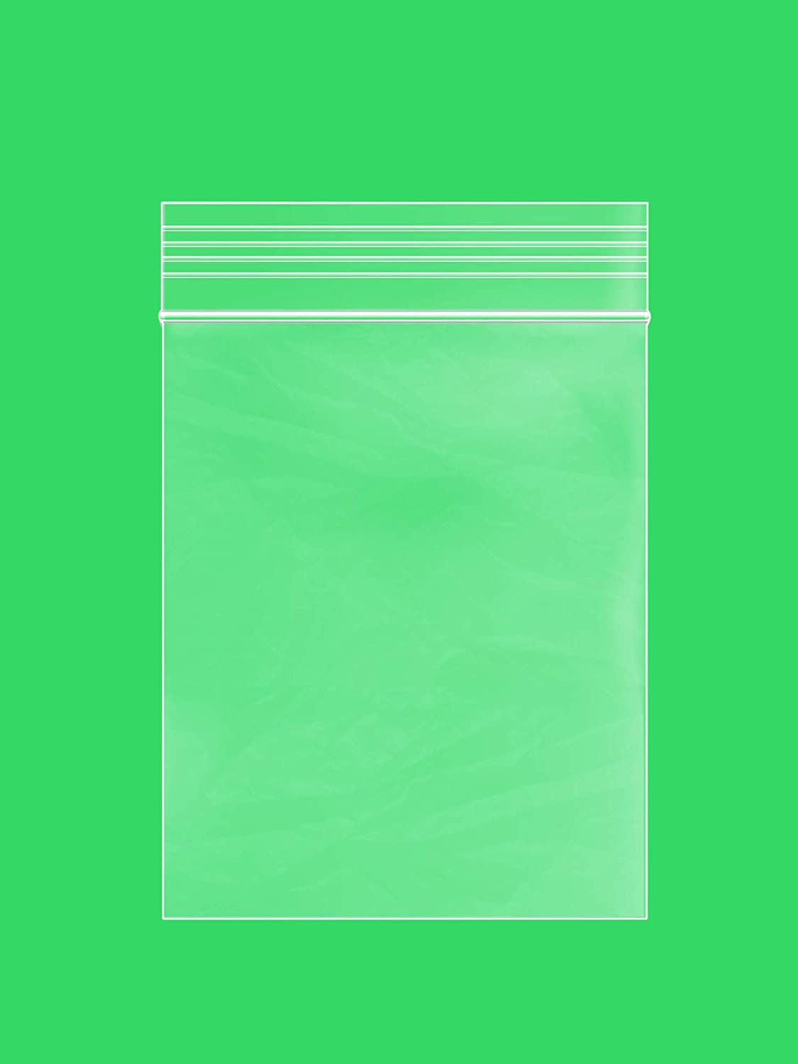 2.5 x 3 inches, 4Mil Clear Reclosable Zip Lock Bags, Case of 1,000 - GPI Brand