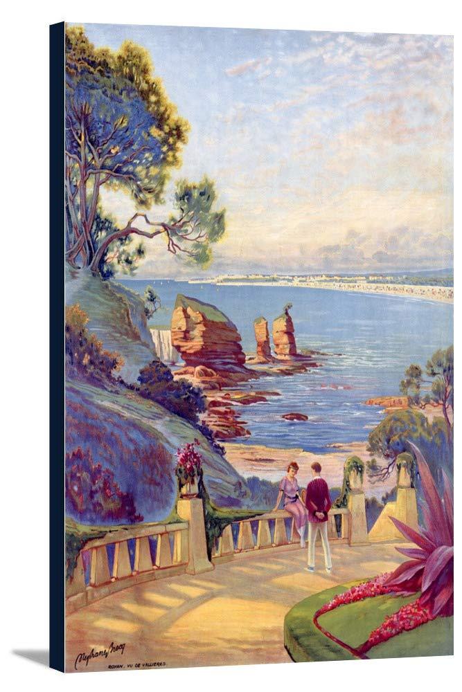 Royan sur l 'ocean ( no text )ヴィンテージポスター(アーティスト: BRECq ) France 24 x 36 Gallery Canvas LANT-3P-SC-59792-24x36 B0184B6XPW  24 x 36 Gallery Canvas