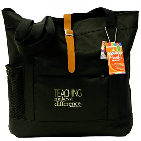 e22c0cefb295 Amazon.com  Teacher Peach Fashion Tote Bag - Motivational Handbag ...