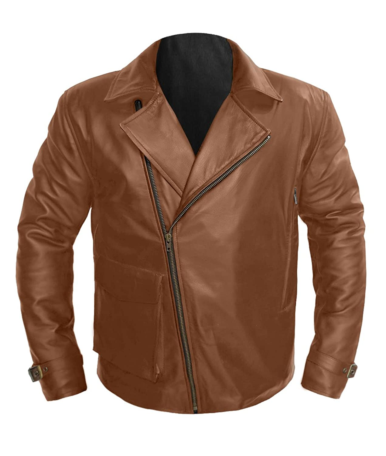 Men's Captain America First Avengers Brown Real Leather Jacket - DeluxeAdultCostumes.com