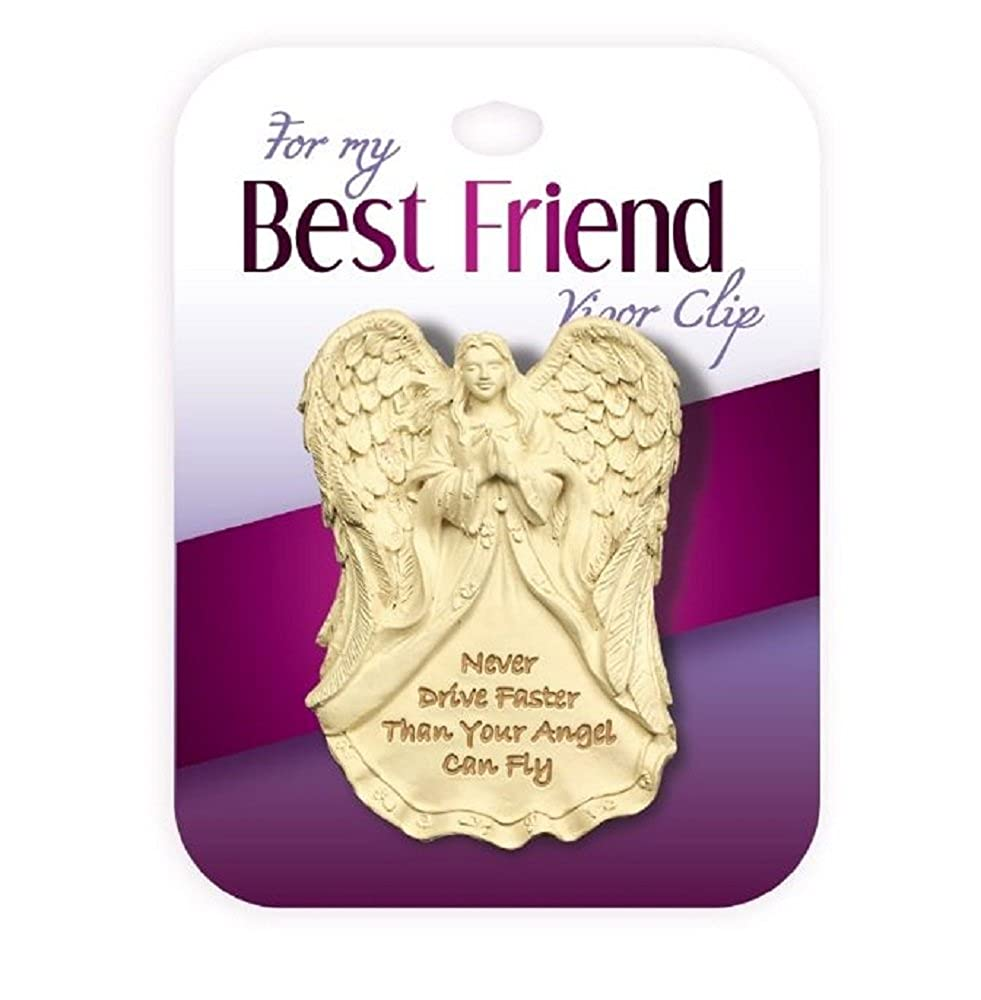 Never Drive Faster Than Your Angel Can Fly Visor Clip. For My Best Friend