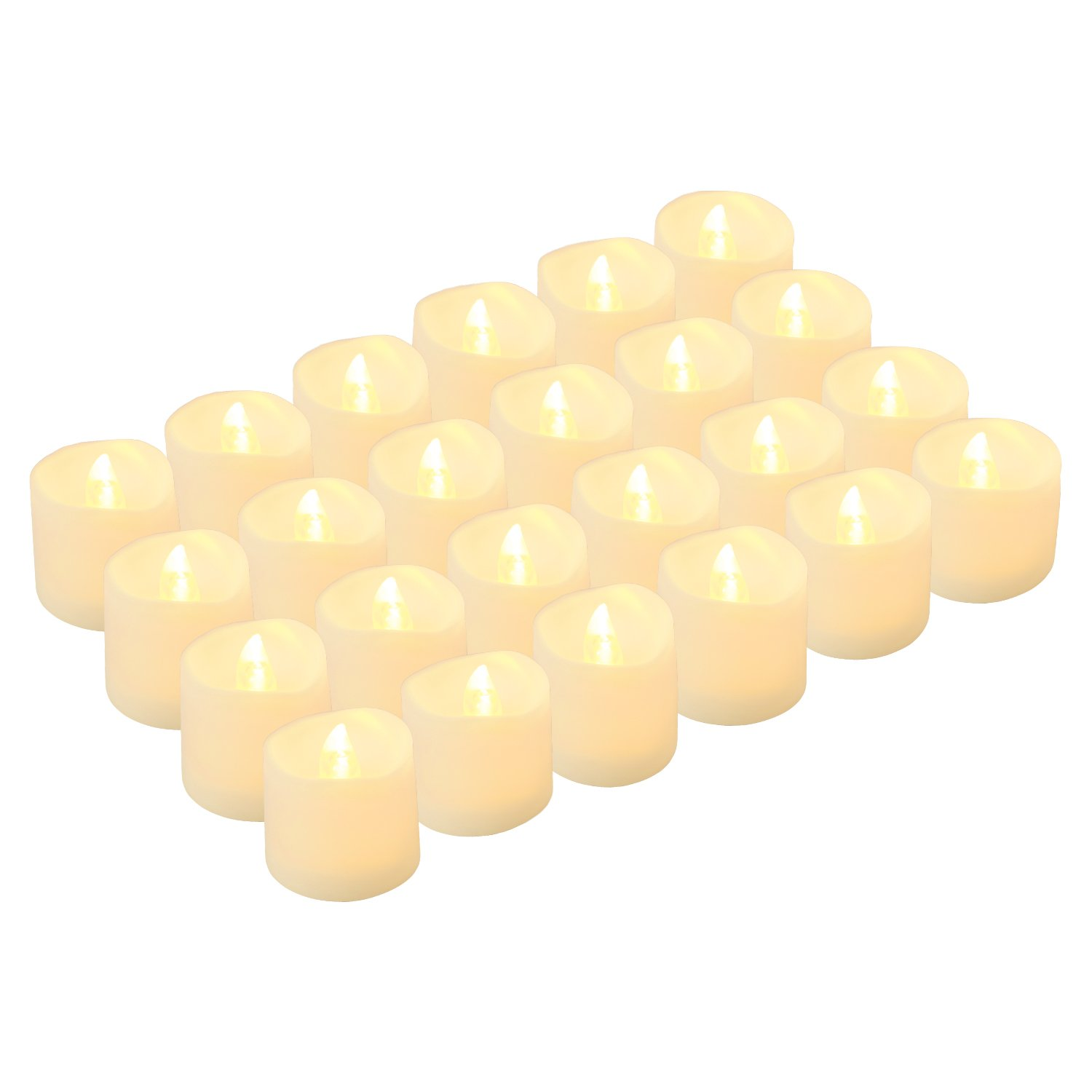 LED Tea Lights Candles, Kohree Flameless Candles Battery Operated LED Candles, Flickering Tealight Candles, Pack of 24, Warm White