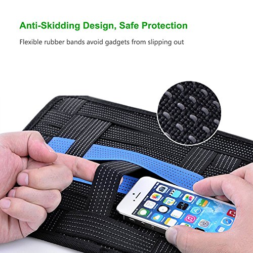 UGREEN Elastic Organizer Board, Electronics Organizer Elastic Travel Board for Gadget, Charging Cable, Power Bank, Chargers, Earbuds