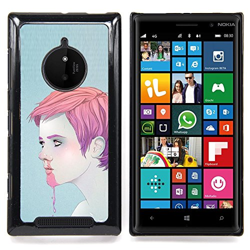 Queen Pattern - FOR Nokia Lumia 830 - Man Boy Pink Nose Bleeding Ice Cream Face - Impact Case Cover with Art Pattern Designs ()
