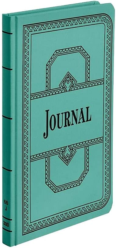 300 Pages Record//Account Book Journal Rule 12 1//8 x 7 5//8 Blue
