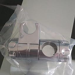 Soporte de Ducha, RIXOW Soporte de Ducha Cromado, Ducha de Mano Deslizante, para Barra de Ducha de 25 mm: Amazon.es: Bricolaje y herramientas
