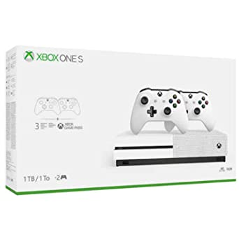 Amazon Com Xbox One S Two Controller Bundle 1tb Includes Xbox One S 2 Wireless Controllers 1 Month Game Pass Trial 14 Day Xbox Live Gold Trial Video Games