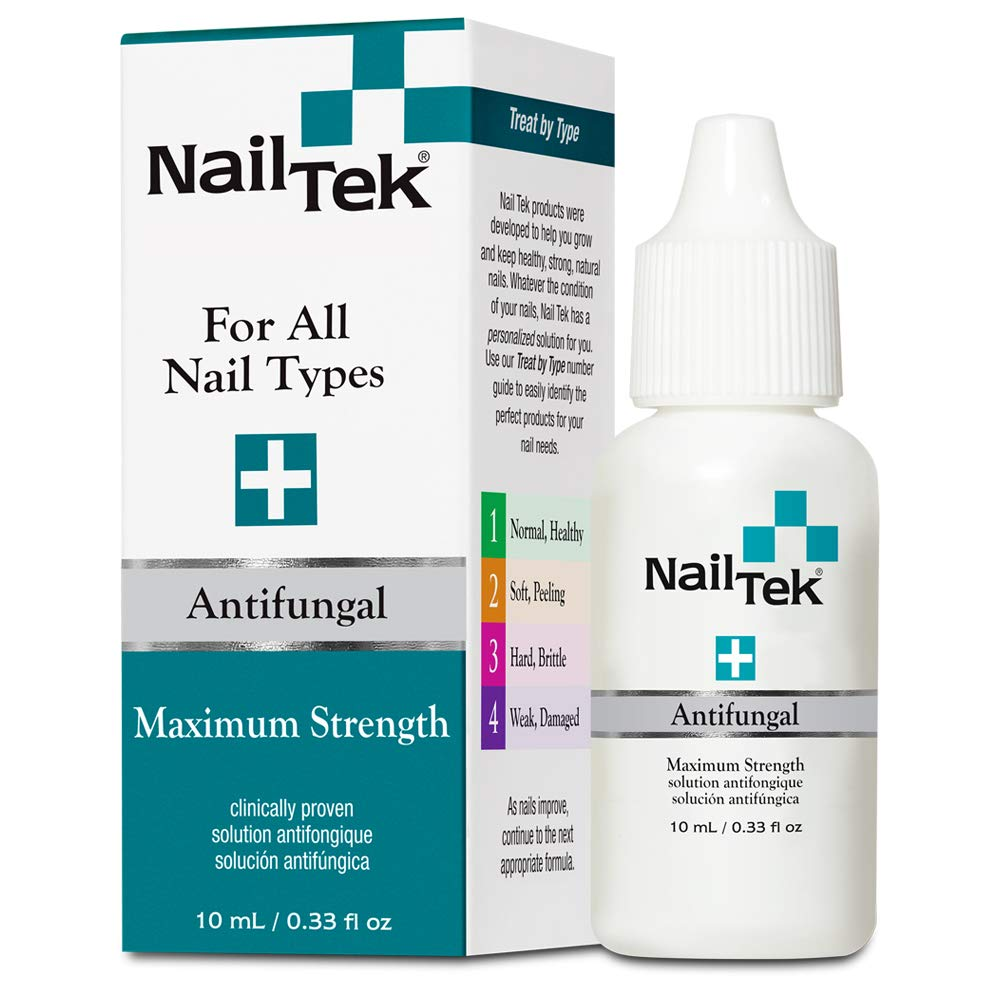Nail Tek Maximum Strength Solution for All Nail Types, Clinically Proven, Protects and Restores Nail Health, Stop Fungal Nail Infection 0.33 oz, 1-Pack