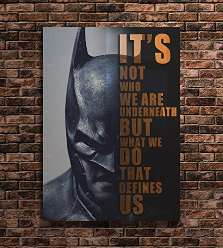 Batman Print Famous People Quotes Art (A3 12x17 inches) ()