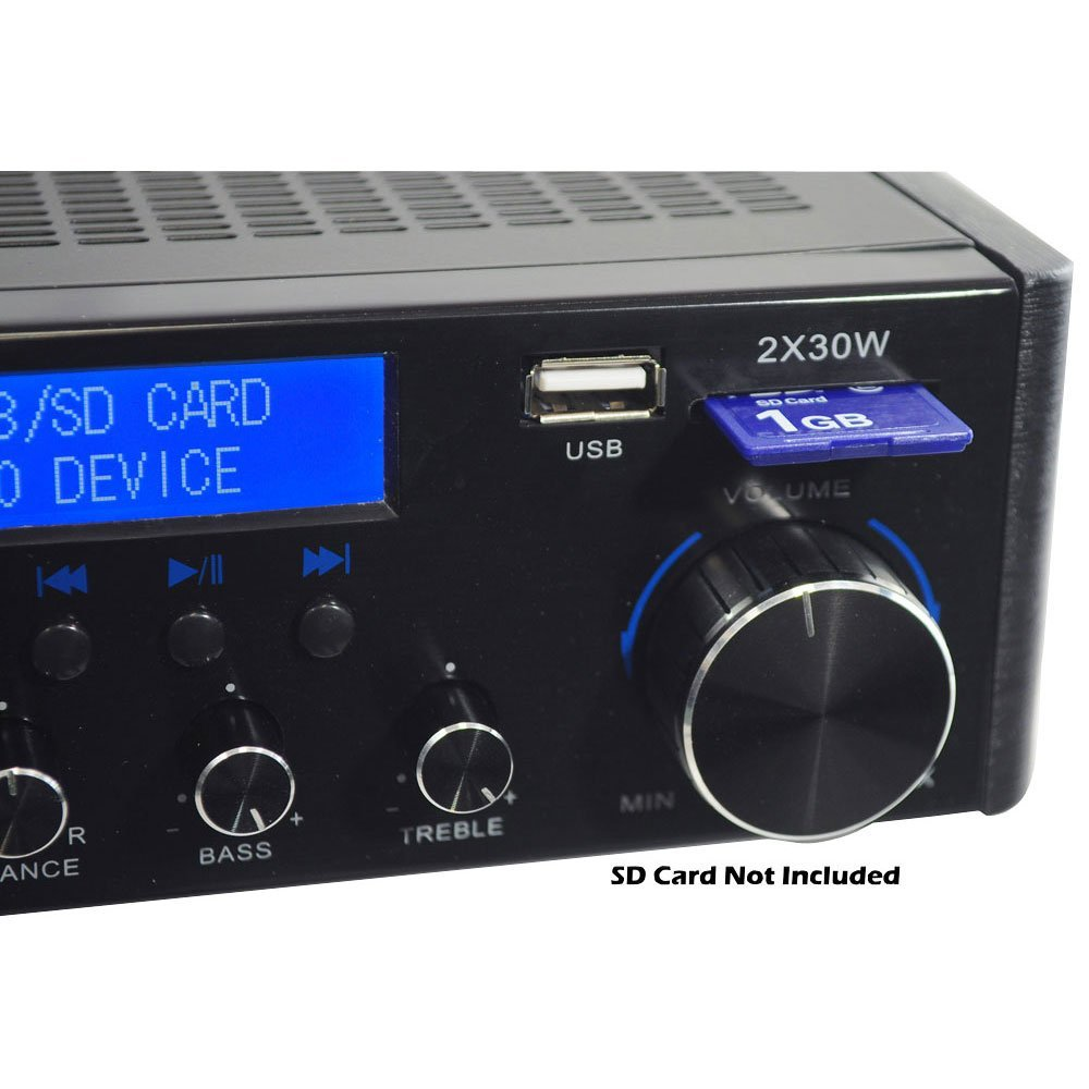 Amazon.com: PVA3U 60 Watts Mini Amplificador Hi-Fi con USB / SD Card Player: Electronics