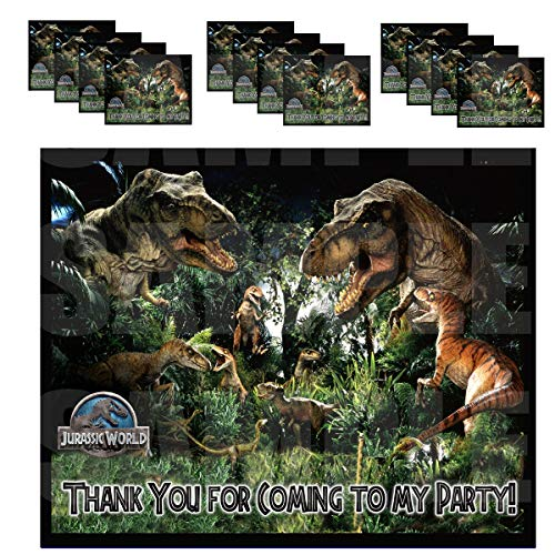 Jurassic World Stickers Party Favors Supplies Decorations Thank You Gift Bag Label Stickers ONLY 4.25