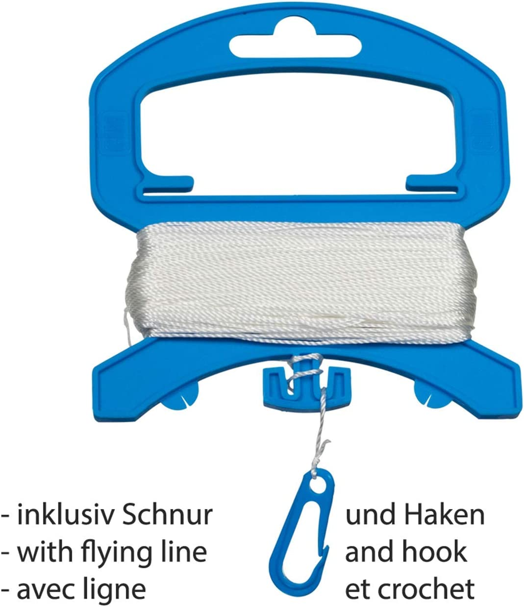 Basteldrachen Bastel-Drachen Abmessung: 65x72cm Komplettset zum selber basteln Creativ Drachen CIM Drachen Bausatz inkl.extra Langer Drachenschnur auf Handgriff und Streifenschw/änze