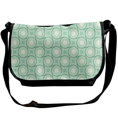 70%OFF Kmeiqufan Circles And Dots Linked With Lines Wavy Squares Geometric Retro Style Unisex Wide Diagonal Shoulder Bag Adjustable Single Shoulder Backpack