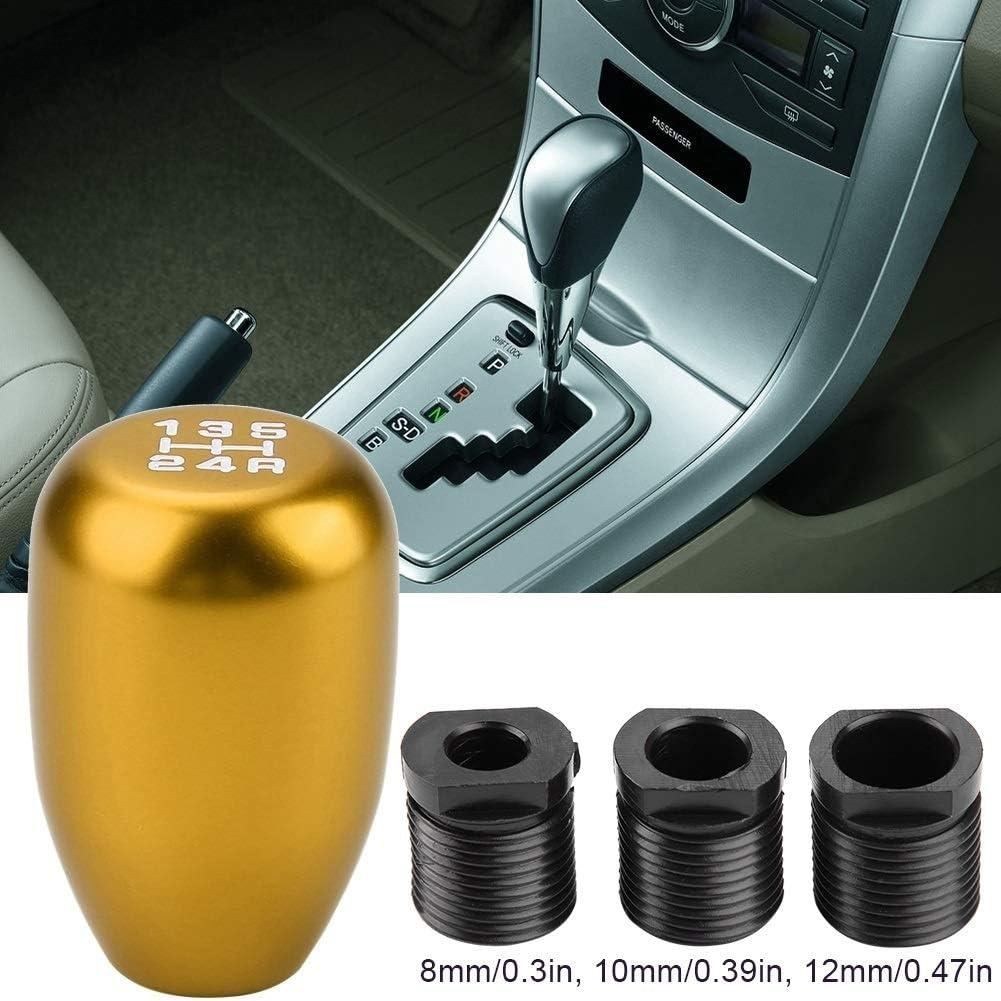 Gold 12mm Broco 5 voiture changement de vitesse manuel de la vitesse Bouton Shifter Levier b/âton avec 3 adaptateurs 8//10