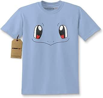Expression Tees Kids Go Blue Dinosaur Face T-Shirt Small Light Blue