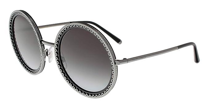 Dolce & Gabbana 0DG2211 Gafas de sol, Gunmetal/Black, 53 ...
